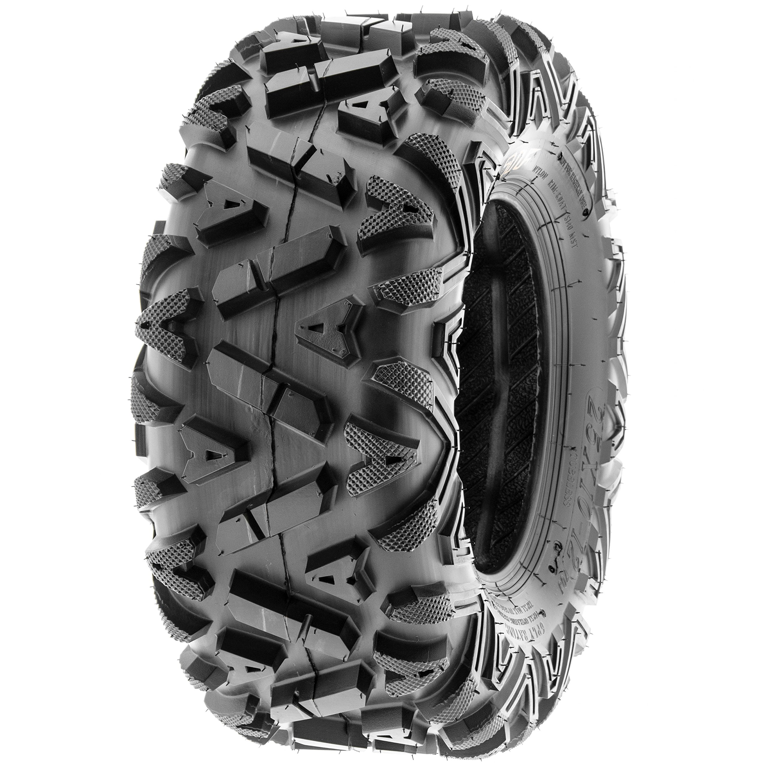 Pair of 2 SunF A033 Power.I AT 25x10-11 ATV UTV Off-Road Tires, All-Terrain, 6 PR, Tubeless by SUNF (Image #7)