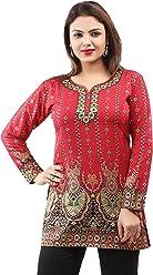 Unifiedclothes Women Fashion Casual Short Indian Kurti Tunic Kurta Top Shirt Dress 28D