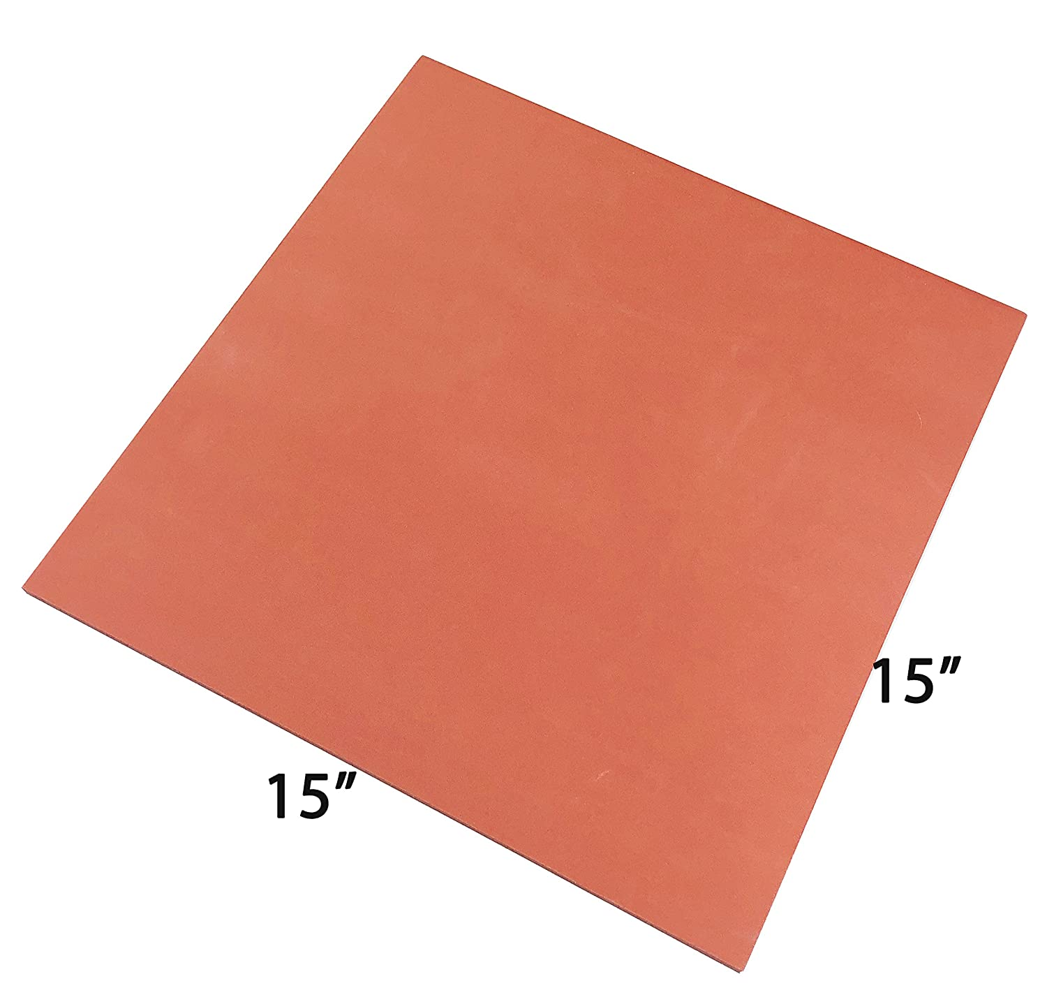 ePhotoInc Silicone Pad Flat Heat Press Replacement Heat Resistant Silicone Mat 15 x 15 Inches 15MatRed 4336975526