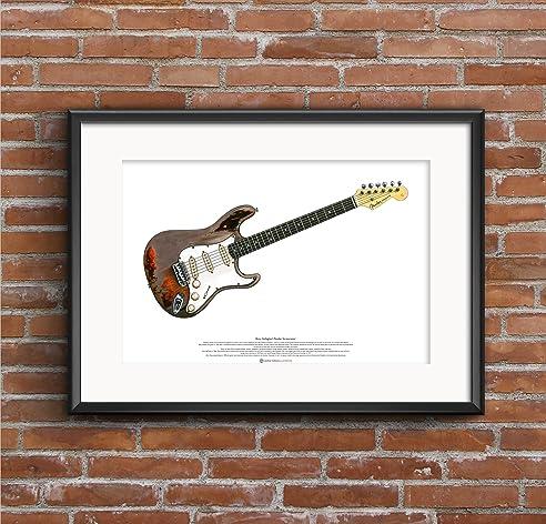 Rory Gallagher Fender Stratocaster Gitarre KUNSTPOSTER A2 Größe ...