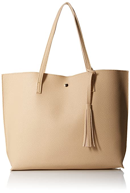 118a190fa Amazon.com: OCT17 Women Tote Bag - Tassels Faux Leather Shoulder Handbags,  Fashion Ladies Purses Satchel Messenger Bags - Beige: Shoes