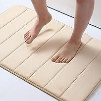 Olanly Memory Foam Soft Bath Mats Non-Slip Absorbent Bathroom Rugs Rubber Back Runner Mat for Kitchen Bathroom Floors 17…