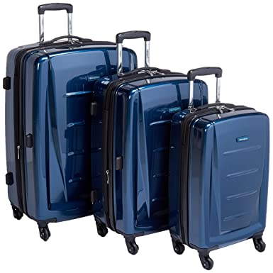 c9d61c624 Amazon.com | Samsonite 3-Piece Set, Deep Blue | Carry-Ons