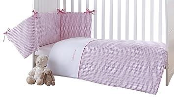 e9bb4af6d5eff Clair de Lune Barley Bébé Cot Bed Quilt and Bumper (Pink