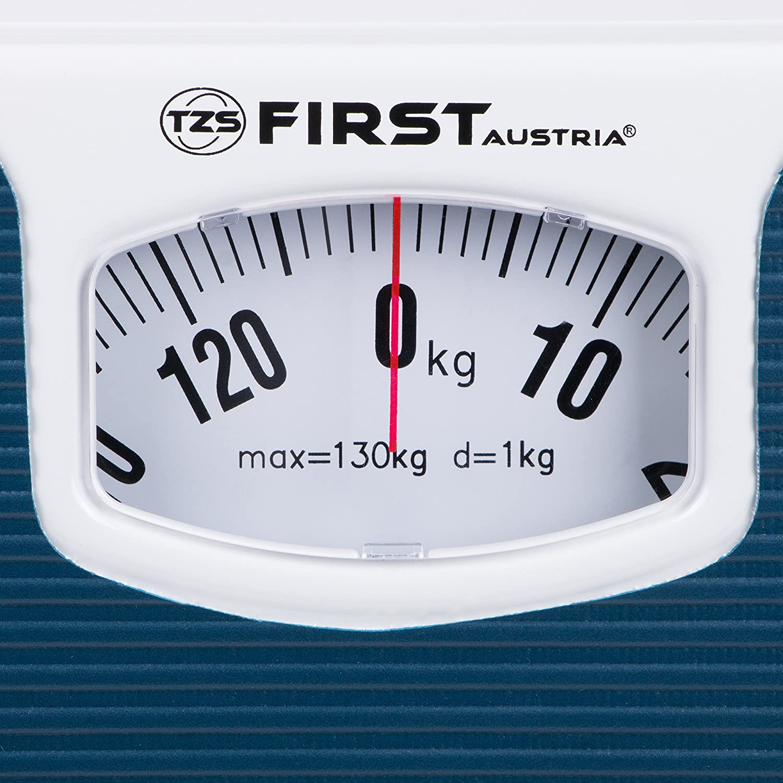 Báscula de baño mecánica |azul | hasta 130 kg | Báscula de baño analógica | Báscula de baño para mayores | Retro |: Amazon.es: Hogar