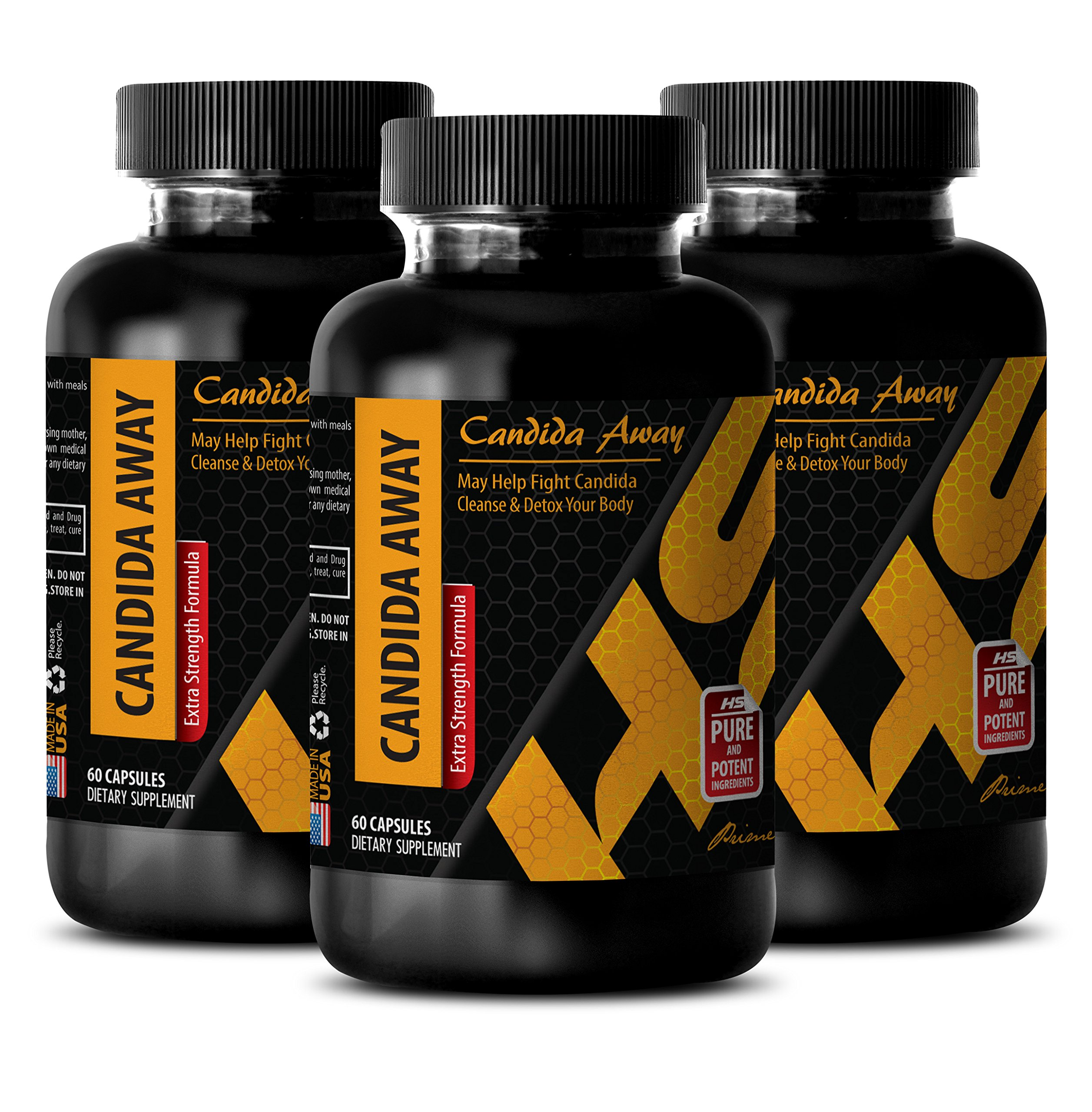 metabolism diet - CANDIDA AWAY - candida pills - 3 Bottles (180 Capsules) by HS PRIME