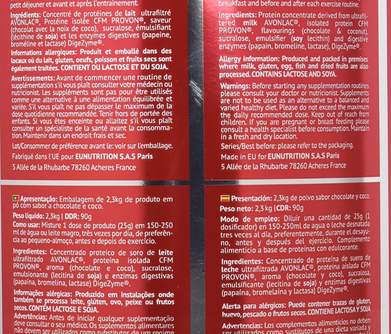 EU Nutrition 100% Whey Premium Évolution Chocolate Coconut ...