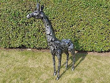 Black Country Metal Works U0027Rainwashed Rosieu0027   A Beautiful Giraffe Garden  Sculpture Made From