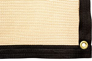 Be Cool Solutions 70% Brown Outdoor Sun Shade Canopy: UV Protection Shade Cloth| Lightweight, Easy Setup Mesh Canopy Cover with Grommets| Sturdy, Durable Shade Fabric for Garden, Patio & Porch 12'x20'