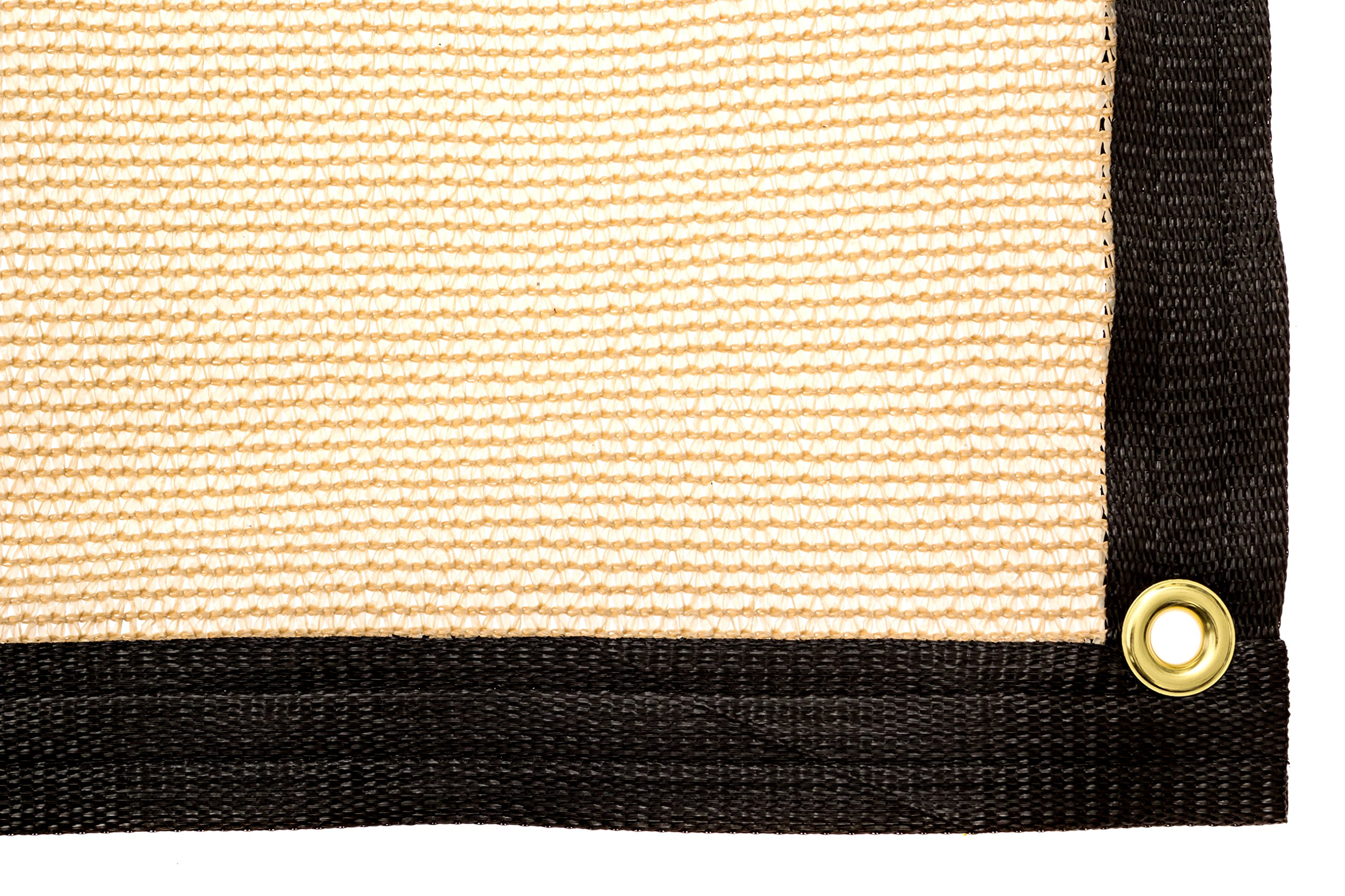 Be Cool Solutions 70% Brown Outdoor Sun Shade Canopy: UV Protection Shade Cloth| Lightweight, Easy Setup Mesh Canopy Cover with Grommets| Sturdy, Durable Shade Fabric for Garden, Patio & Porch 6'x12'