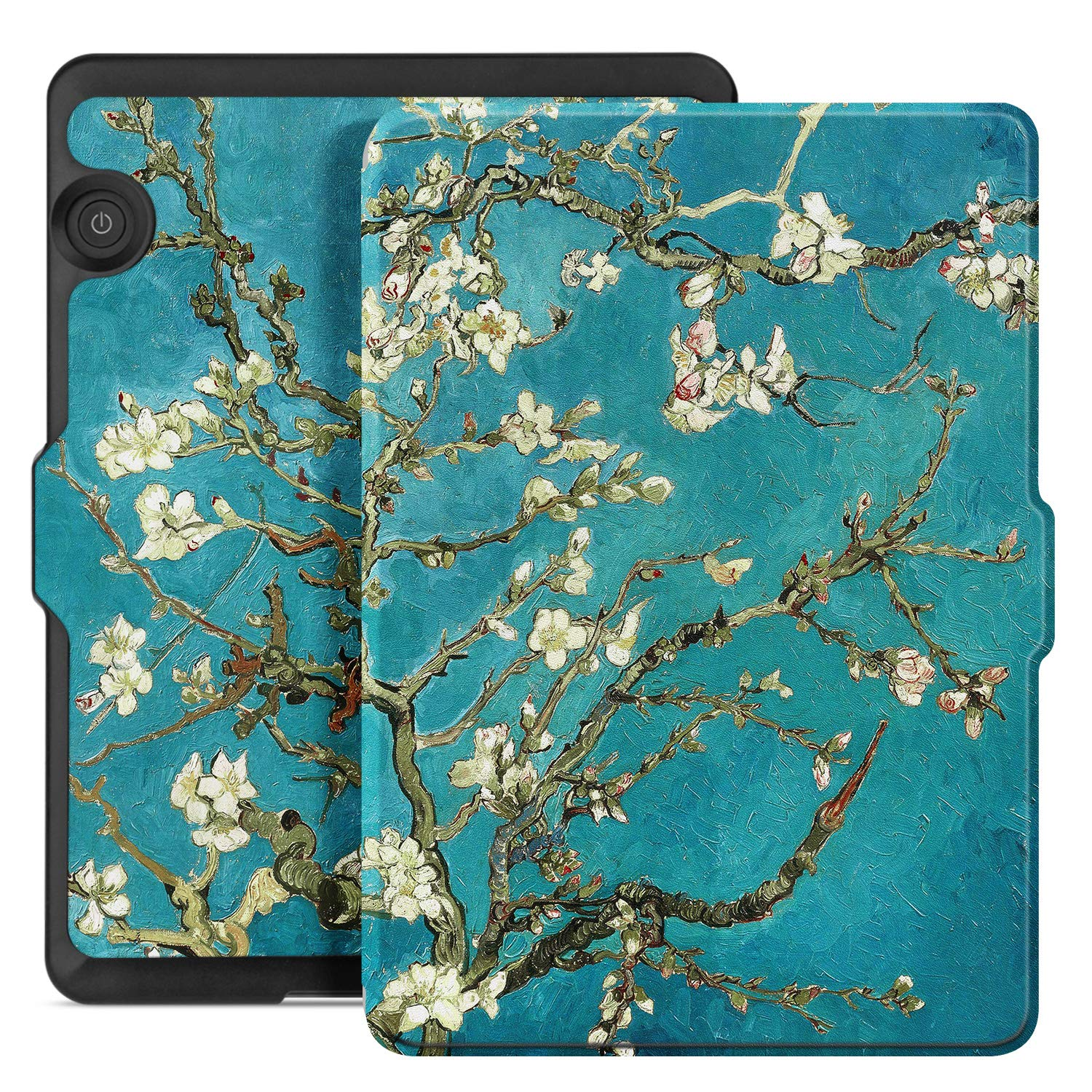 Ayotu Case for Kindle Voyage E-reader Auto Wake and Sleep Smart Protective Cover, For Amazon 2014 Kindle Voyage Case Painting Series KV-09 The Apricot Flower