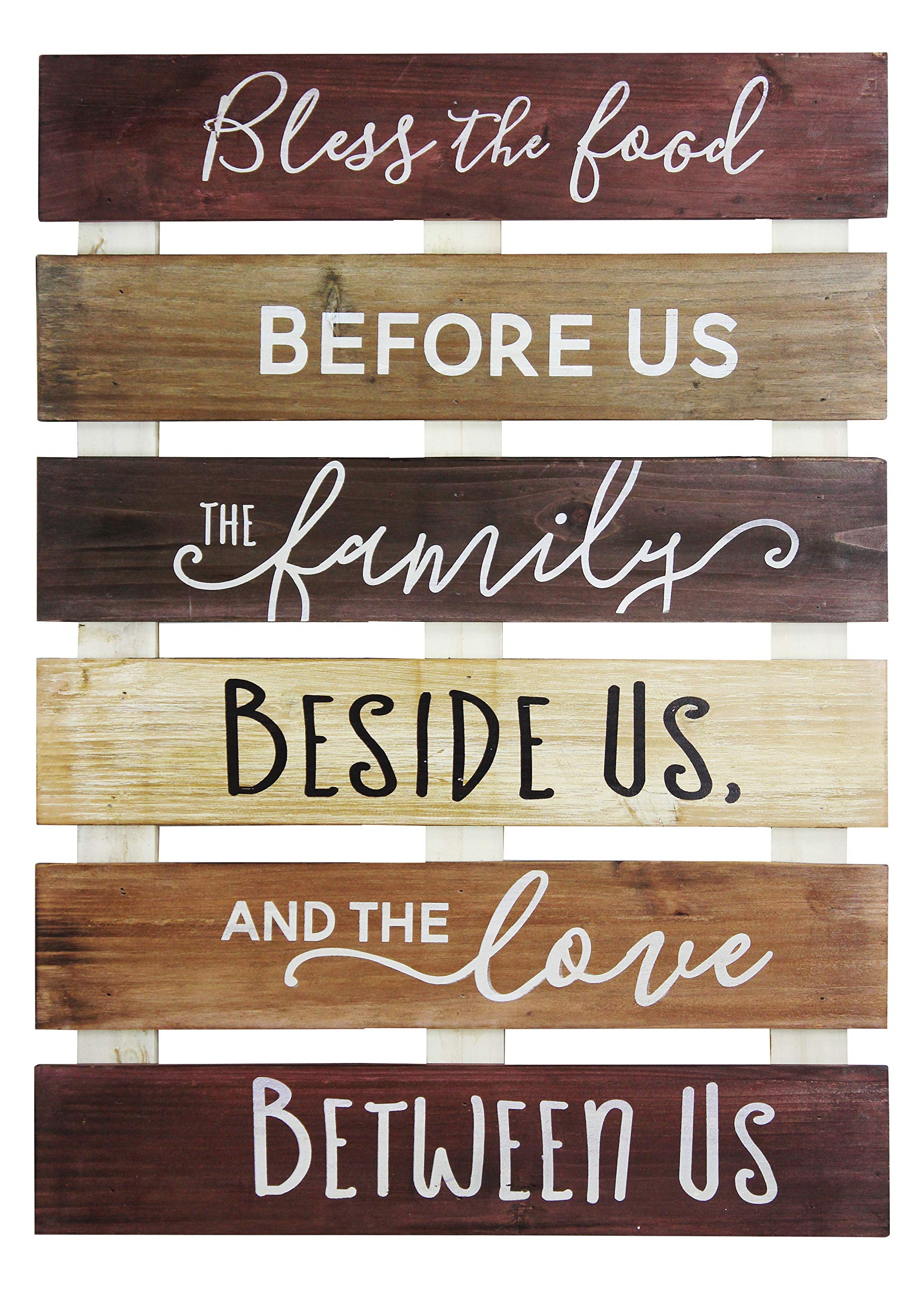 Vintage Rustic Farmhouse Wall Home Decor Sign For Kitchen, Living Room, Dining Room, Bedroom or Bathroom – Bless The…