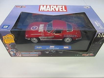 2003 Maisto Marvel Captain America Chevrolet Corvette 1:18