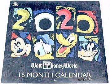 Calendrier Pass Disney.Walt Disney World Parks 2019 2020 16 Month Calendar