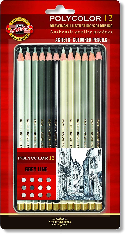 Koh-i-noor Polycolor 12 Artists/' Colored Pencils.