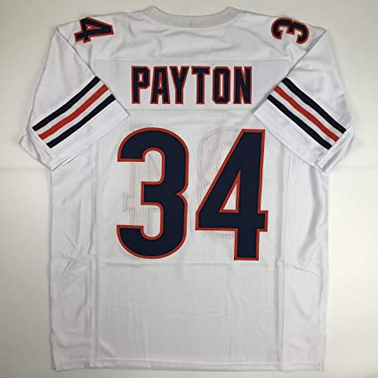 63dbf1461a2 Unsigned Walter Payton Chicago White Custom Stitched Football Jersey Size  Men's XL New No Brands/
