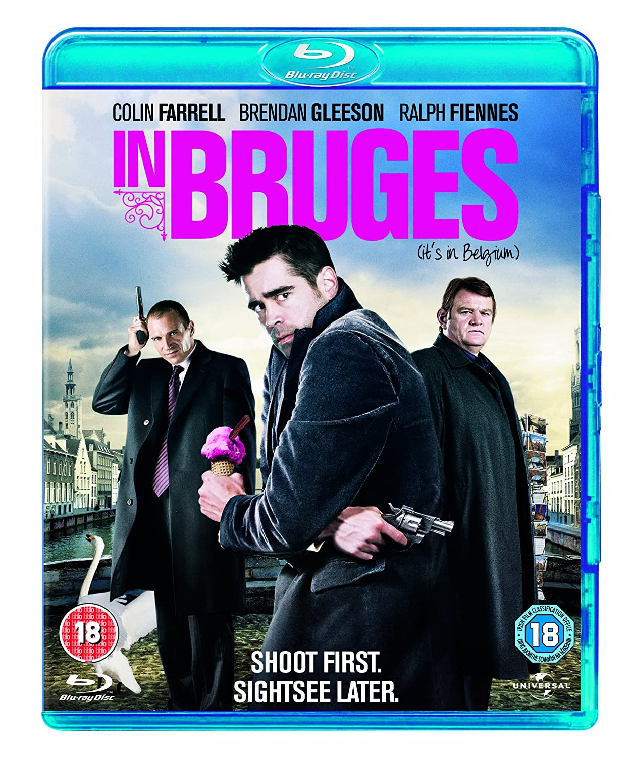 in bruges blu ray region amazon co uk colin farrell in bruges blu ray region amazon co uk colin farrell brendan gleason ralph fiennes martin mcdonagh dvd blu ray
