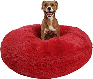 product image for Bessie and Barnie Signature Lipstick Luxury Shag Extra Plush Faux Fur Bagel Pet / Dog Bed (Multiple Sizes)