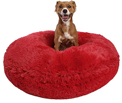 ab609309fa0d Bessie and Barnie Signature Lipstick Luxury Shag Extra Plush Faux Fur Bagel  Pet   Dog Bed
