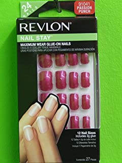 Revlon Color Allure Nails Medium Length Passion Punch 91041 24 Ct