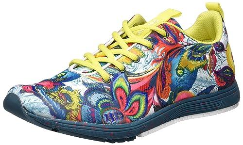 Desigual Shoes_Training S, 41, 4153 Shaded Spruce, Zapatillas Deportivas para Interior para Mujer, Verde EU: Amazon.es: Zapatos y complementos