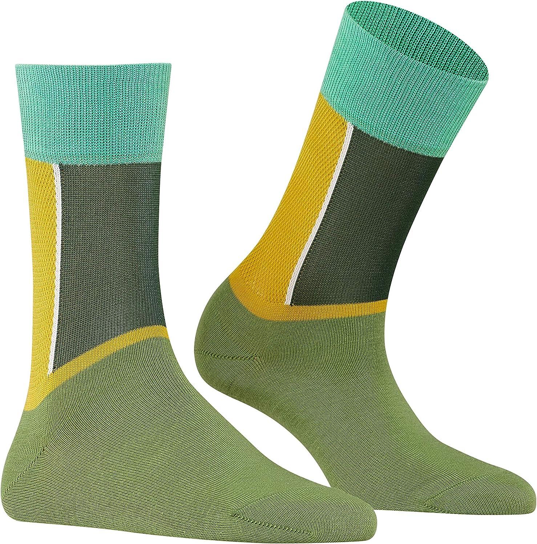 Baumwollmischung sommerlicher Damenstrumpf in kr/äftigen Farben Gr/ö/ße 35-42 Farben Moderner Versch 1 Paar FALKE Damen Socken Soft Study