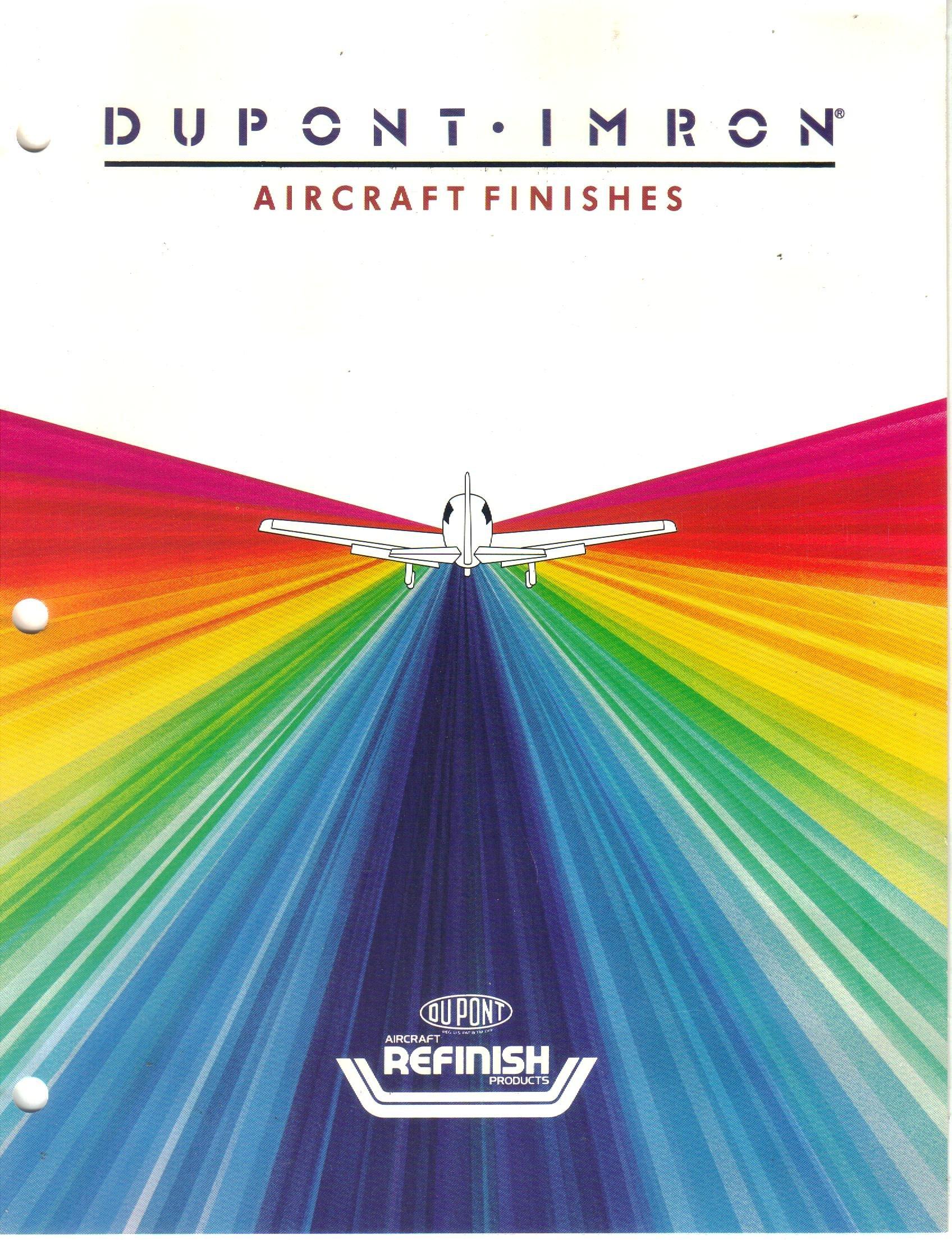 Dupont imron aircraft finishes color range sheet chart not stated dupont dupont refinish products amazon com books