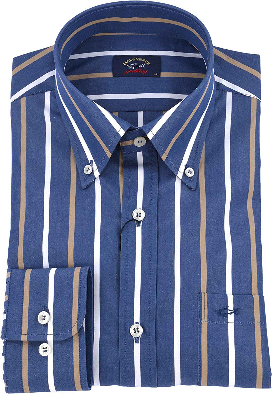 PAUL & SHARK - Camisa Casual - Rayas - con Botones - para Hombre 40: Amazon.es: Ropa y accesorios