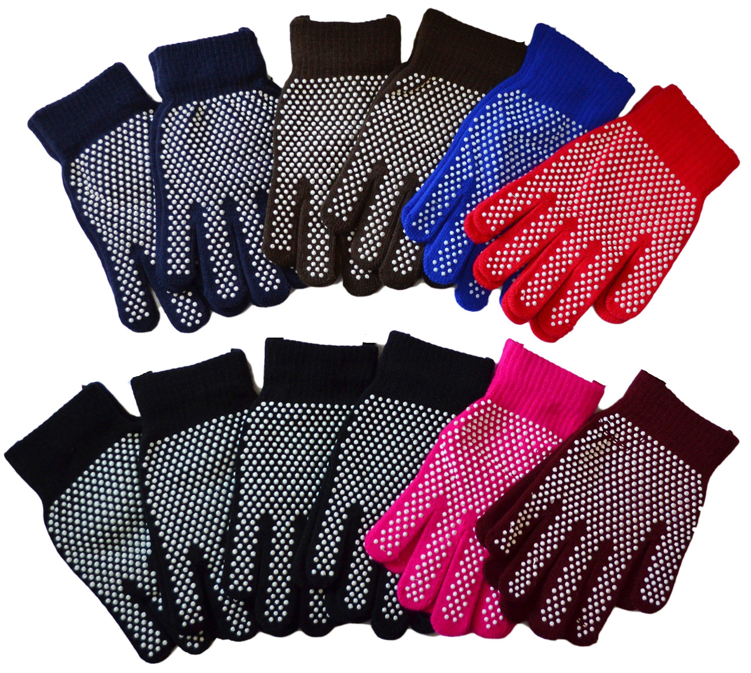OPT Brand. 12 Pairs Wholesale Magic Knit Gripper NON-SLIP GRABBER PALMS Gloves Sports Work. USA Trademark Registered Code: 86522969.