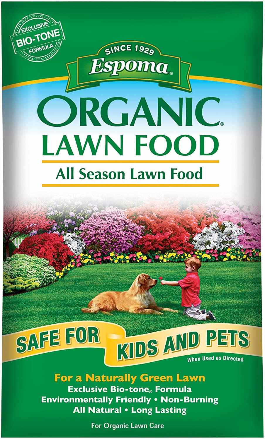 Espoma EOLF28Organic All Season Lawn Food, 28-Pound