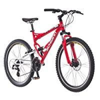 Schwinn Protocol 1.0 Men's Dual-Suspension Mountain Bike (26-Inch Wheels,  Red