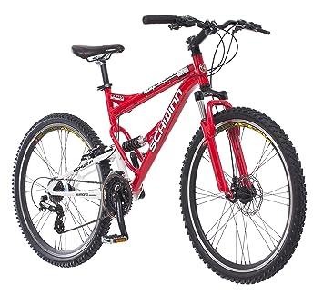 Schwinn Protocol 1 0 Dual-Suspension Mountain Bike with Aluminum Frame,  26-Inch Wheels, Red