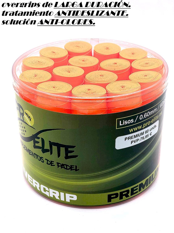 overgrips Pro Elite Premium Liso Naranja Flúor. Bote de 60 ...