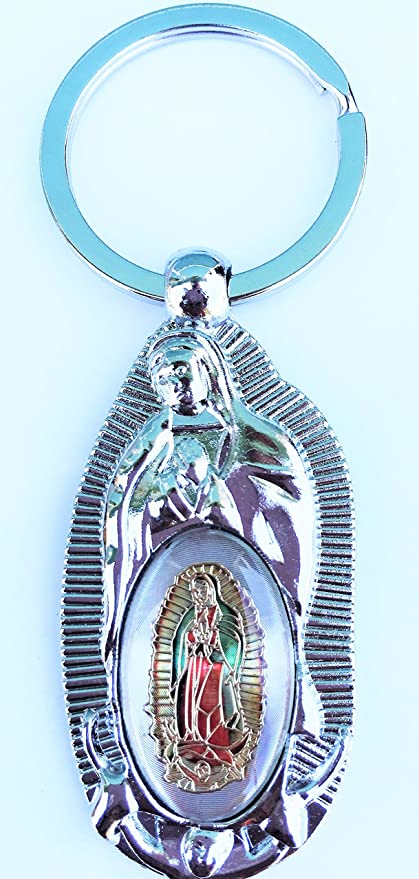 Baptism First Communion favors Virgen De Guadalupe BOY/GIRL(12pcs)-Recuerdos de mi Bautizo/primera comunion-llaveros