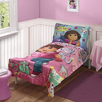 Dora The Explorer Toddler Bedding Set (Discontinued By Manufacturer) Amazing Pictures