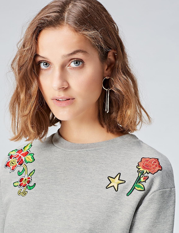 find Marca Vestido Sudadera con Flores Bordadas para Mujer
