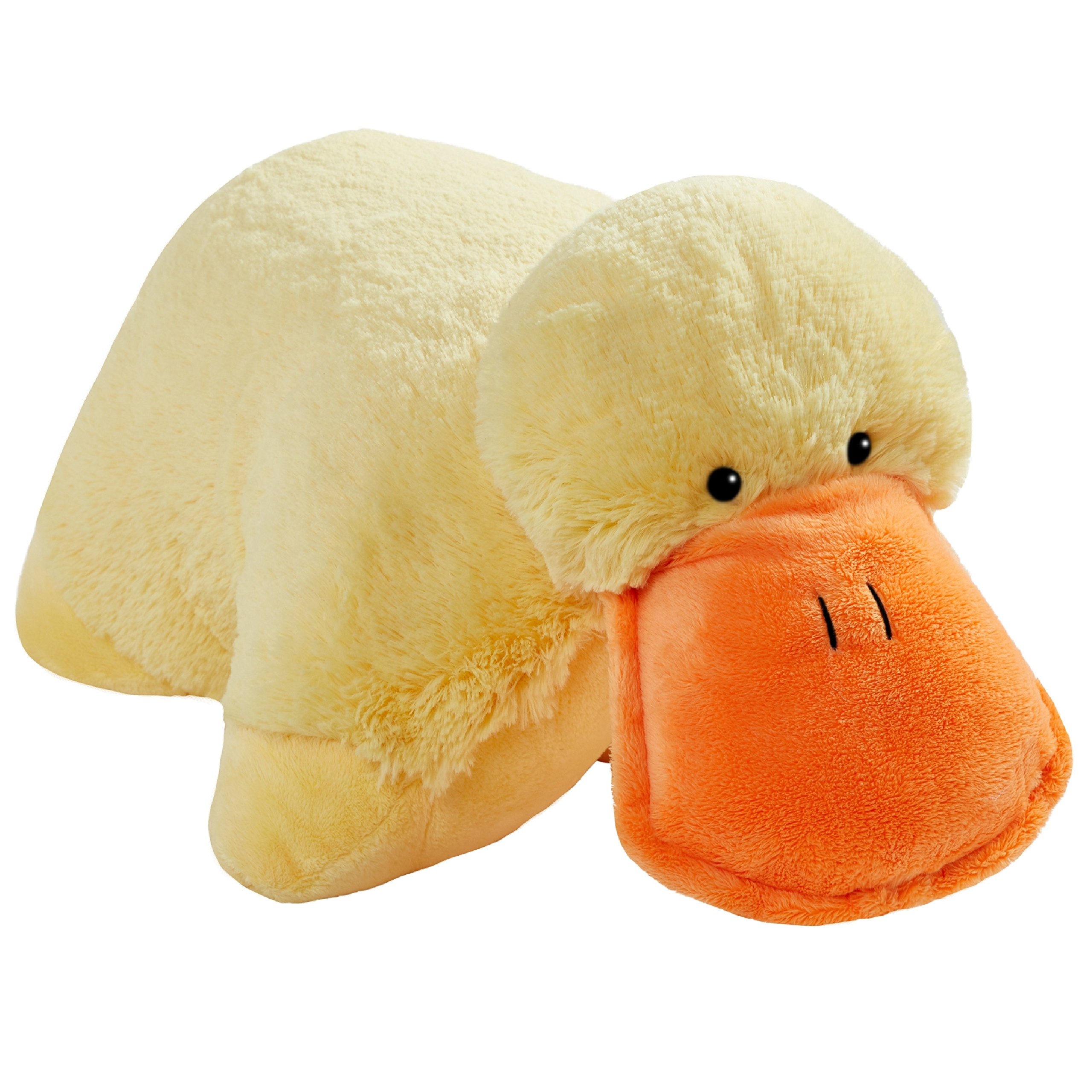 Pillow Pets My Signature, Puffy Duck, 18'' Stuffed Animal Plush Toy by Pillow Pets