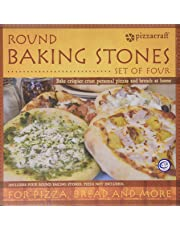 Pizzacraft PC0003 8-Inch Round Ceramic Mini Baking/Pizza Stones, Set of 4
