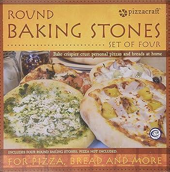 Piedra de pizza para barbacoas (circular), color beige