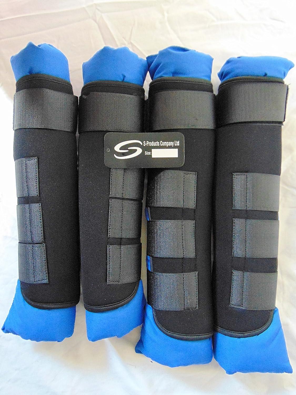 Cheval en polaire jambe Protection flatwork Noir brossage Bottes Équitation différentes tailles de livraison gratuite au Royaume-Uni noir Noir petit SSPe4
