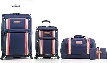 microscópico Penetración Juventud  Amazon.com: Tommy Hilfiger North Harbour Juego de equipaje de cuatro piezas  (28