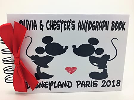 Personalised Disney Mickey Minnie Mouse Honeymoon Photo Album