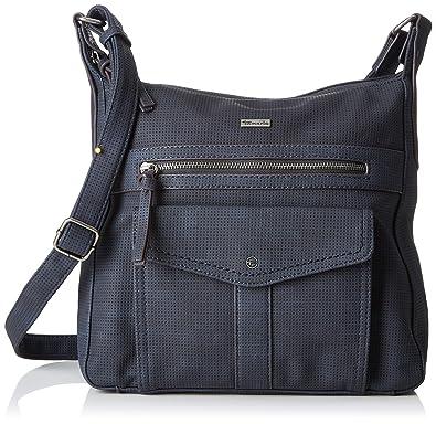 Tamaris Damen Adriana Hobo Bag S Schultertasche, Blau (Navy