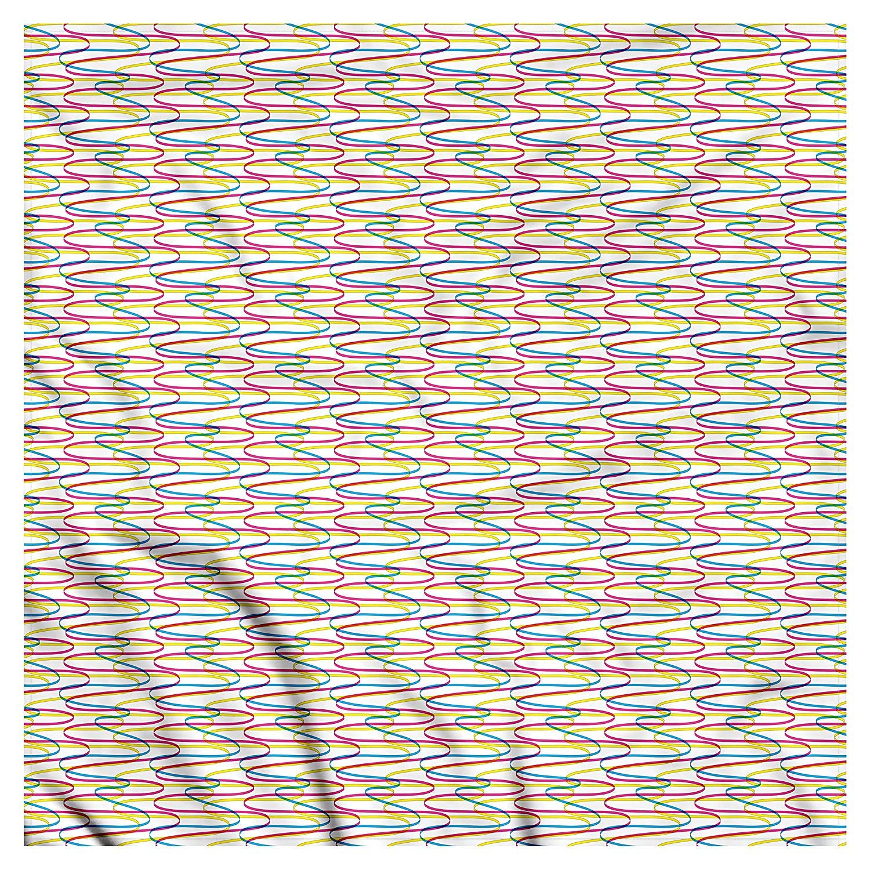 Soefipok Pañuelo de colores, patrón de líneas onduladas, cabeza y ...