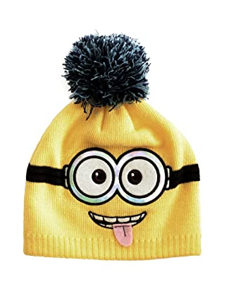 Despicable Me Licensed Minions Yellow Minions Design Winter Beanie
