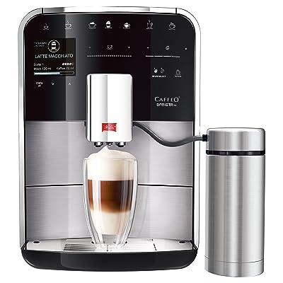 Melitta Machine à Café et Boissons Chaudes Automatique, Fonction One Touch et Touch & Slide, Réservoir à Lait inclus, Caffeo Barista TS, Inox, F76/0-200