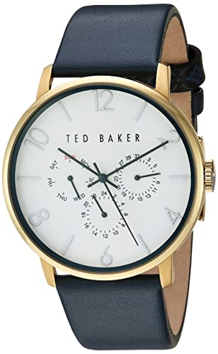5203792da7fd1e Ted Baker Men s  Smart Casual  Quartz Stainless Steel and Leather Dress  Watch