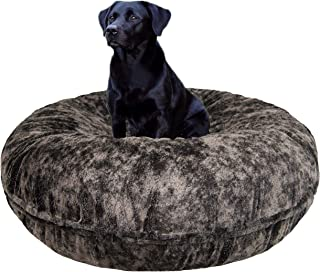 product image for BESSIE AND BARNIE Signature Koala Luxury Extra Plush Faux Fur Bagel Pet/Dog Bed (Multiple Sizes)