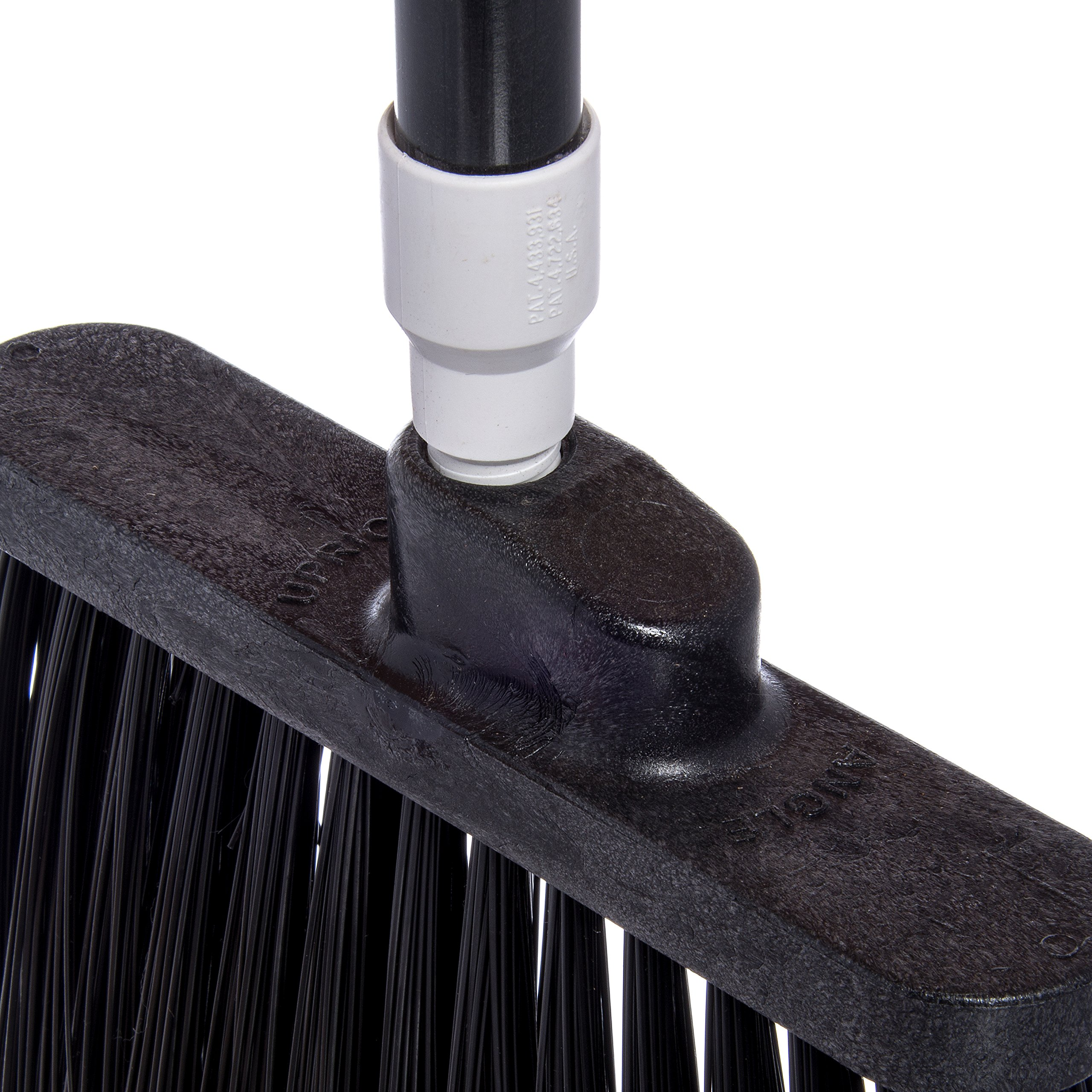 Carlisle 3686703 Duo-Sweep Medium Duty Flagged Angle Broom Head, Polypropylene Bristle, 8'' Overall Length x 12'' Width, Black (Case of 12) by Carlisle (Image #4)