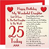 Daughter 25th Happy Birthday Card